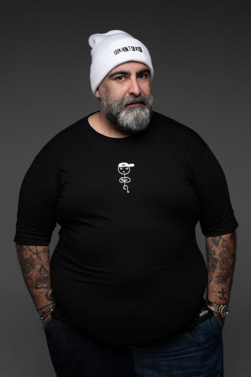 black tshirt the hustler