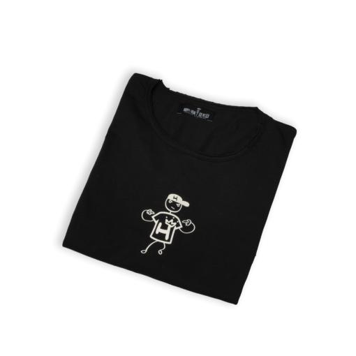black tshirt king hustler