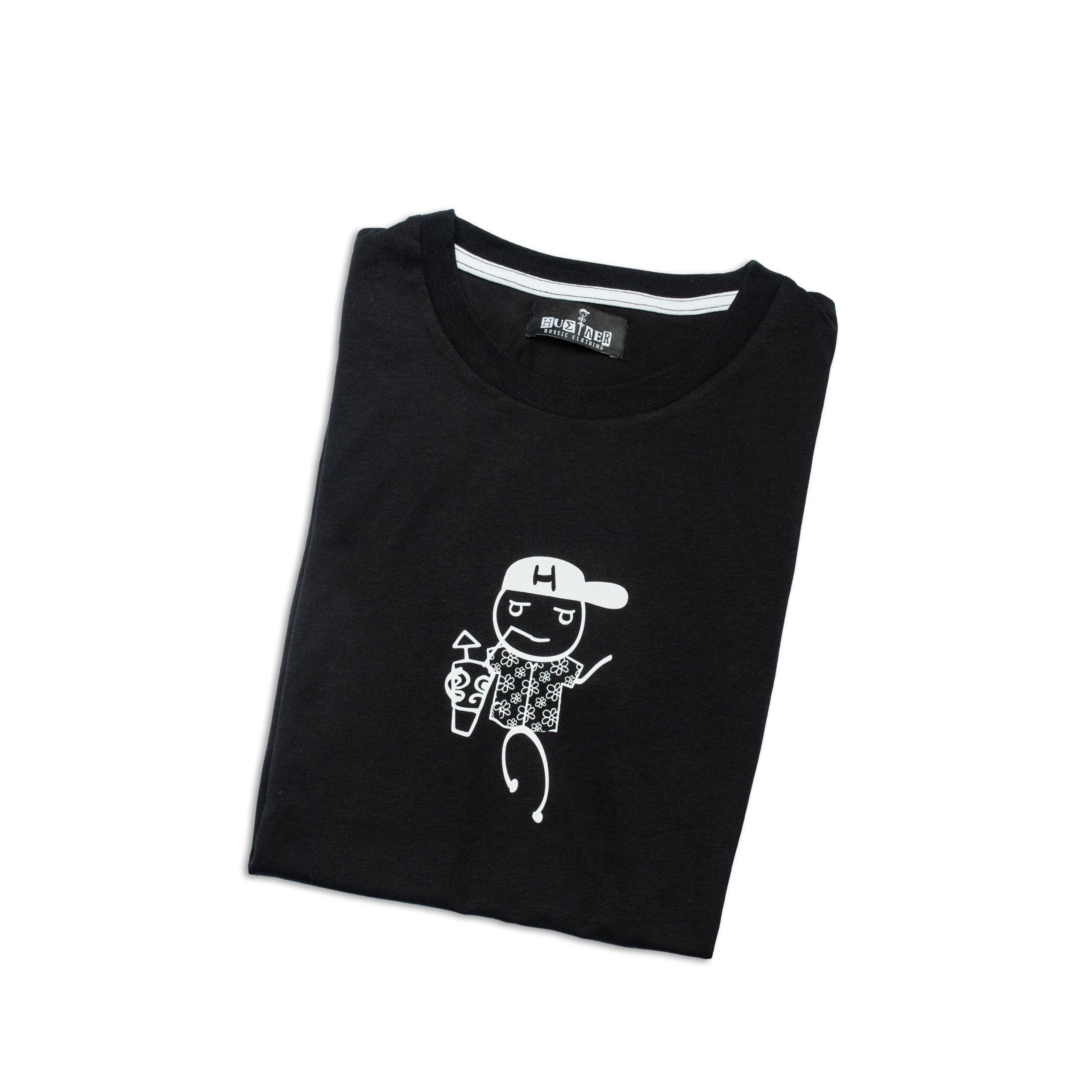 "T-Shirt ""The Hustler Tropical & Tipsy"" Black"