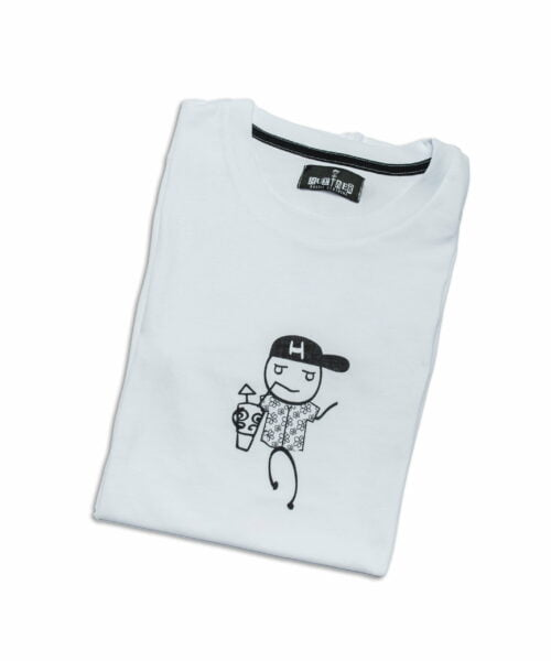 """T-Shirt """"The Hustler Tropical & Tipsy"""" White"""