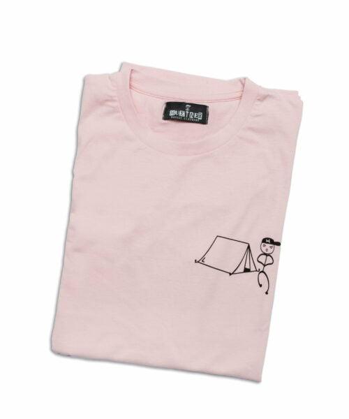 """T-Shirt """"Hustler The Camper"""" Pink"""